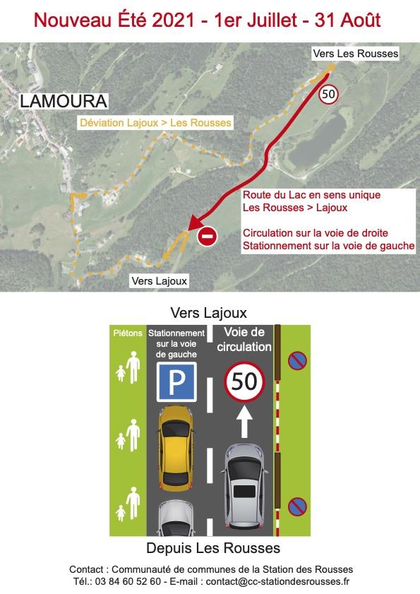 Sécurisation du stationnement au lac de Lamoura - été 2021