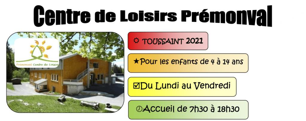 Accueil de loisirs Automne - Toussaint 2021